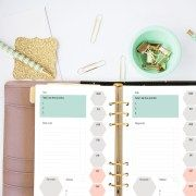 A5 Planner Printable - Daily Planner - Organise your to-do's, meals, workout and notes