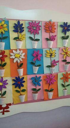 Spring crafts for kids, Crafts for kids, Spring art projects, Spring crafts, Pre. Kids Crafts, Spring Crafts For Kids, Diy Arts And Crafts, Summer Crafts, Easter Crafts, Spring Flowers Art For Kids, Art Crafts, Holiday Crafts, Kindergarten Art