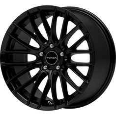 INOVIT SONIC BLACK SATIN LACQUER alloy wheels with stunning look for 5 studd wheels in BLACK SATIN LACQUER finish with 18 inch rim size