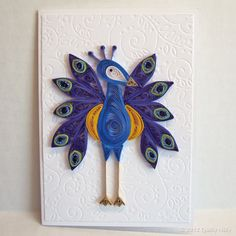 ooo, a quilled peacock! I make quilled cards and should SO make something like this. YES absolutely.