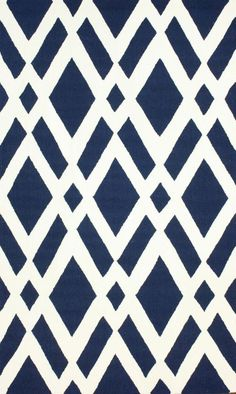 $5 Off when you share! Homespun HK99 Trellis Navy Rug | Contemporary Rugs #RugsUSA