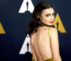 """"""" Actress Lily Collins attends the Academy of Motion Picture Arts and Sciences' 8th annual Governors Awards at The Ray Dolby Ballroom at Hollywood & Highland Center on November 12, 2016 """""""