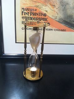 Large Brass Hour Glass Timer, Kitchen Timer by RustyRelics1967 on Etsy https://www.etsy.com/listing/238693351/large-brass-hour-glass-timer-kitchen