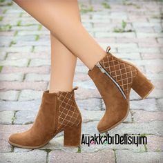 Lonas Taba Topuklu Bootie #brown #boots #shoes