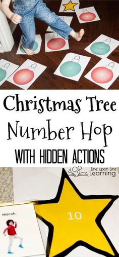 Task Shakti - A Earn Get Problem A Christmas Tree Number Hop Is A Fun Preschool Gross Motor Activity To Get Kids Moving While Practicing Number Recognition. Preschool Christmas Games, Preschool Crafts, Preschool Activities, Christmas Games For Preschoolers, Christmas Maths, Holiday Activities For Kids, Kindergarten Christmas, Preschool Lessons, Winter Activities