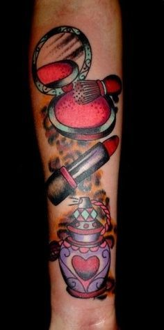 old school make up tattoo - Google Search