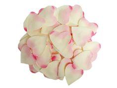 Pink Heart Silk Rose Petals (500)