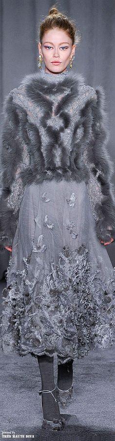 Marchesa Fall/Winter 2014-15 - stunningly beautiful but I wish it was fur free. :(
