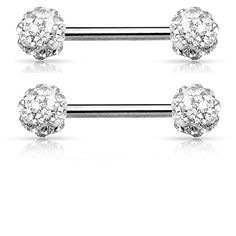 Crystal Paved Ferido Balls Nipple Bars Barbells Rings - 14G 316L Stainless Steel - Sold as a Pair (Clear) Pierced Owl http://www.amazon.com/dp/B01A4TCNBK/ref=cm_sw_r_pi_dp_gD7Nwb0SK0GBQ