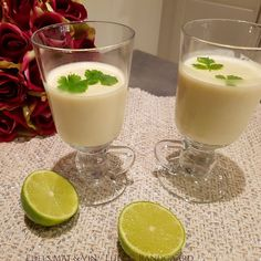Edels Mat & Vin: Panna Cotta med lime !! Panna Cotta, Lime, Ethnic Recipes, Desserts, Food, Tailgate Desserts, Dulce De Leche, Limes, Deserts