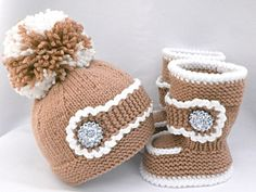 Knitting PATTERN Baby Set Baby Shoes Baby Uggs Pattern Knitted