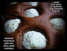 Alakbarát túrópöttyös (Boci szelet másképp) Halmai Réka receptje - Dia-Wellness
