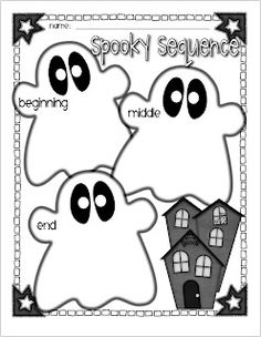 Halloween Graphic Organizers-cute for the halloweiner book i have - School Stuff -