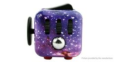 Purple Galaxy Outer Space Fidget Cube Clicker for Boredom ADHD ADD Autism Great for focus, when you just need to mess with something. Great price on these! Many different colors and designs available.