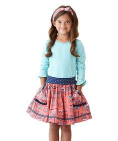 Look at this #zulilyfind! Pink Hold the Phone Skirt - Toddler & Girls #zulilyfinds