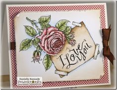 New Instant Garden Digital Release for January La Vie en Rose by Danielle Kennedy