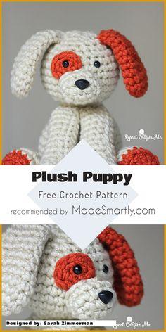 Plush Puppy - Free Crochet Pattern #puppy #crochettoy #amigurumi #freecrochetpattern
