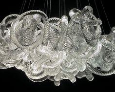 blown glass chandelier - VIP? snake / animal - see wallpaper