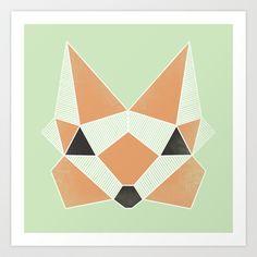 Grafic+Fox+Art+Print+by+Fanny+Öqvist+Westerberg+-+$15.00