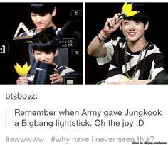 Fanboy Jungkook! So cute, he's so happy too. cutie | allkpop Meme Center
