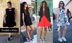 tênis + vestido <3
