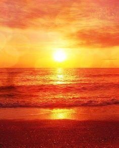 Orange Aesthetic Discover Beach Sunset Photograph - Red Orange Yellow Bokeh Ocean Summer Beach Home Decor Art Print Orange Aesthetic, Rainbow Aesthetic, Beach Aesthetic, Aesthetic Pastel, Aesthetic Colors, Aesthetic Grunge, Aesthetic Vintage, Beach Pink, Summer Beach