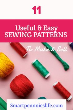 11 Easy FREE patterns to make and sell. Tutorials using fabric scraps for easy projects to sell. Diy Projects To Sell, Easy Sewing Projects, Sewing Projects For Beginners, Diy Projects For Teens, Sewing Tutorials, Sewing Hacks, Money Making Crafts, Crafts To Make And Sell, Easy Diy Crafts