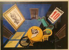 "Cenário para peça de teatro ""Los Medios Seres"" de Rámon Gómez de la Serna, 1929 de Almada Negreiros"