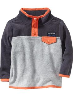 Color-Block Performance Fleece Pullover for Baby Product Image
