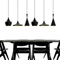 Hanger, 3 Licht, Industrial Black Iron Aluminium Spinning - EUR € 107.44