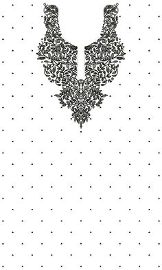 9297 Dress Embroidery Design