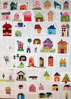 """Hello, AWESOME! """"Epipheny House Quilt""""by Ruthie Quilts, via Flickr."""