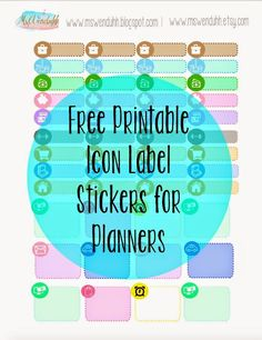 MsWenduhh Planning & Printing: Free Printable Stickers: Icon Labels for Planning