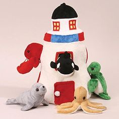 Plush Lighthouse with Animals - Five (5) Stuffed Sea Animals (Orca, Lobster, Sea Turtle, Seal, Octopus) in Play Lighthouse Carrying Case, http://www.amazon.com/dp/B0021GNFAI/ref=cm_sw_r_pi_awdm_x_4dX3xbCF09GVJ