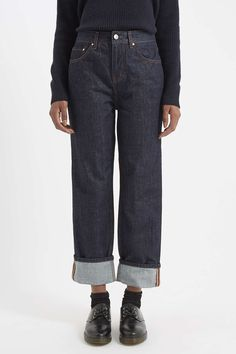No.2 Boy Fit Turn-Up Jeans by Boutique