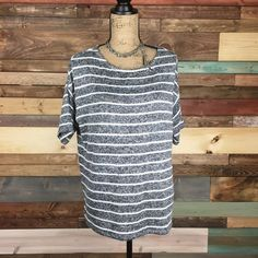 Soft Striped Pullover Soft Striped Pullover   Super soft knit sweater, great with skinnies and boots!  #stripes #nordstrom #stripes #woodsnap #chaus #medium #sweater #sweaterweather Chaus Sweaters Crew & Scoop Necks