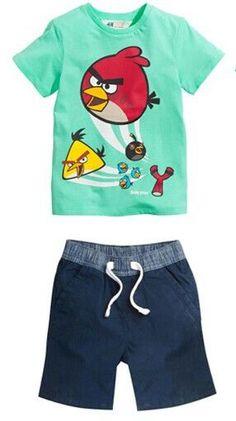 2016 New kid apparel Boys Summer Clothing Set Baby Boys Set Suit Cotton T-shirt+ Short Kids costumes Free Shipping