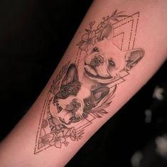 Friend Tattoos, Dog Tattoos, Animal Tattoos, Cute Tattoos, Tattoo Drawings, Girl Tattoos, Matching Quote Tattoos, Tattoos Lindas, Dog Portrait Tattoo