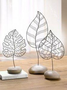 style champetre feuille décorative tendance idees table mariage original fer sculpture