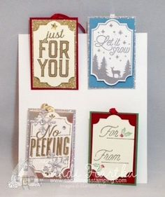 Merry little labels, stampin'up!, Christmas gift tags