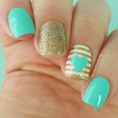 Try some of these designs and give your nails a quick makeover, gallery of unique nail art designs for any season. The best images and creative ideas for your nails. Nails For Kids, Girls Nails, Cute Kids Nails, Nail Designs Pictures, Cute Nail Designs, Gel Designs, Super Cute Nails, Pretty Nails, Little Girl Nails