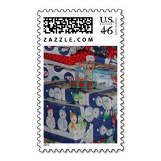 Christmas Presents United States Postage Stamp Designed by Love Shack