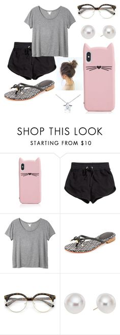 """""""Untitled #803"""" by suandergoncalves on Polyvore featuring Kate Spade, H&M, Monki, Pearlyta and Diamond Star"""