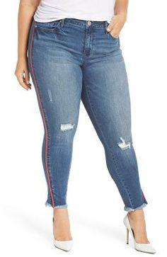 404421f88687b PLUS SIZE Jeans Women High Waist regular Pencil Blue Denim Pants women  bleached washed Jeans women 3XL 4XL 5XL 6XL 7XL big hip