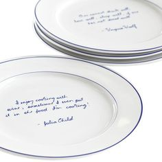 Foodie Quote Salad Plates- Set of 4  #luvocracy #design