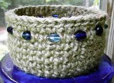 Free Crocheting Patterns: Beaded Jute Basket