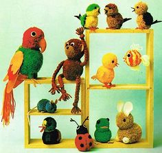 Pom Pom Pets Toy Animals --I wanna make the bunny :D It's adorable!