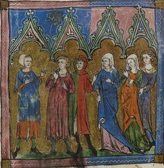 14 ° secolo (1320-1330) oro Hainaut Valenciennes Biblioteca Nazionale di Francia