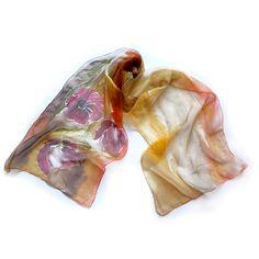 Hand Painted Long Silk Chiffon Scarf #handmade #681team http://www.etsy.com/treasury/MTEyNDE4NDB8MjcyMzMwMTIwOA/coffee-time