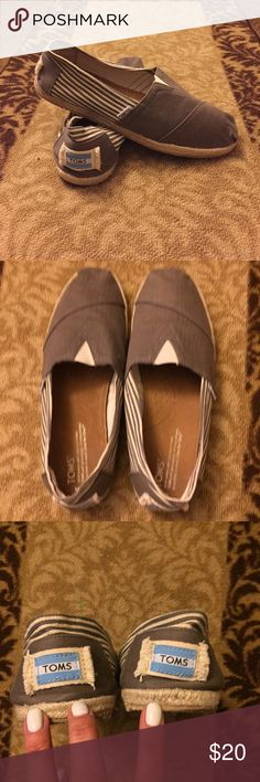 TOMS men's size 9/ women's size 11 WORN ONCE! TOMS worn only once!!! Men's size 9/ Women's size 11 TOMS Shoes Espadrilles